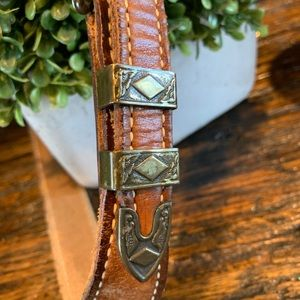 Accessories - Rustic Leather Boho Belt Western Grunge Small